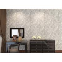 Wholesale Ivory White Embossed Floral Pattern Wallpaper / Wall Coverings For Shop Walls from china suppliers