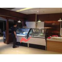 Quality 6 / 8 Barrel Gelato Ice Cream Freezer Display Case Ventilation Cooling With Marble Base for sale