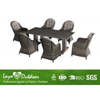 Quality 7PCS Rattan Dining Sofa Sets Sunshine Enjoyable For Outside Seating Furniture for sale