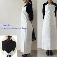 Wholesale Waterproof PVC Apron with Easy Ties and Corns Button in White Color/PVC Apron from china suppliers