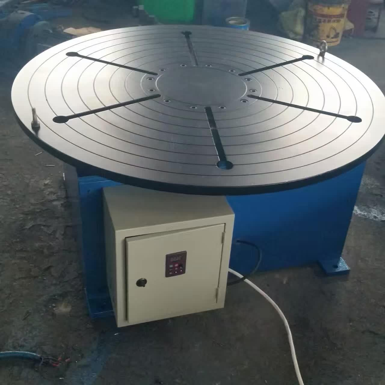 Wholesale Pipe Revolving Table For Welding For Round Seam Welding Rotary Table With Round Table Supporting 15 Tons from china suppliers