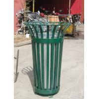 Wholesale Galvanized / Powder Coat Metal Trash Bin Commercial Rubbish Bins from china suppliers