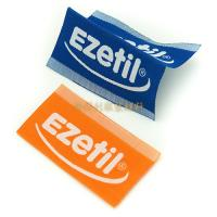 White Taffeta Woven Custom Clothing Brand Labels With Centre Fold Eco Friendly