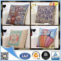 Wholesale Embroideried Cotton Decorative Pillow / Chair Seat Cushion Covers with Polyester Fabric from china suppliers
