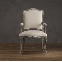Wholesale Camel Back Arm Fabric retro dining room chairs with Generously padded seat from china suppliers