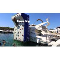 Wholesale Inflatable Water Climbing Wall 5x4m / Adults Floating Rock Climbing Wall from china suppliers