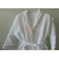 Wholesale White Waffle Hotel Bathrobes Two Layer , Luxury Mens Bathrobes For Winter from china suppliers