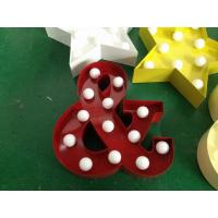Wholesale 9 Inch Metal LED Letter Lights Illuminated Wedding Letters Battery Powered from china suppliers