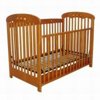 Quality Cheap and durable New zealand solid pine wood baby crib baby cot baby bed for sale