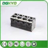 Quality Stack RJ45 Connector Dual Deck 2X4 Y/G RoHS 0879-2D4R-56 Plug Modular Rj45 for sale