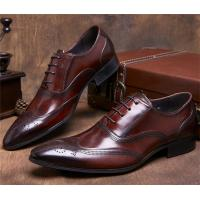 Wholesale Almond Wingtips Toe Classic Dress Shoes Formal Occasions With Carved Patterns from china suppliers