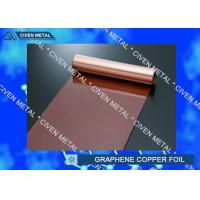 Wholesale Rolled Copper Foil For Graphene 400mm 600mm Width , Thin Copper Sheets from china suppliers