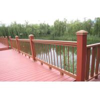 Wholesale Outdoor Engineered WPC Garden Fence , Waterproof Railing For Safety from china suppliers