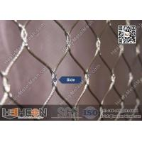 316 stainless steel cross knotted wire cable netting