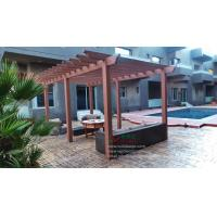 Quality WPC waterproof pergola 23ft.*10ft.*8.5ft.(OLDA-5006) series color for choose with customized size for sale