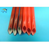 Wholesale 200℃ High Temperature Resistant 4KV Silicone Coated Fiberglass Sleeving for Transformers from china suppliers