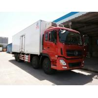 Wholesale cheapest price Dongfeng Tianlong 8*4 9.6M length refrigerator truck, hot sale Dongfeng 8*4 LHD 25tons cold roon truck from china suppliers