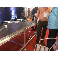 Wholesale Red Folding Aluminium Portable Stage Platform With Wheels / Fireproof Carpet from china suppliers