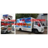 Wholesale 2017S new ISUZU 4*2 LHD mobile LED billboard advertising truck with 3 sides P6 LED screen, hot sale LED vehicle from china suppliers