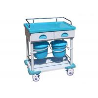 Treatment Medical Trolley Hospital Cart ABS Trolley Nursing Cart Two Drawers (ALS-MT140)
