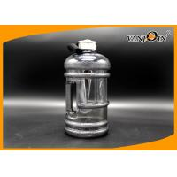 Wholesale 2.2L Black Frosted Plastic Drink Bottles / Jug with Side Handle and Metal Cap from china suppliers