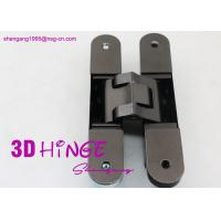 Wholesale 3d heavy duty adjustable concealed hinge for heavy internal doors Concealed Door hinges in Satin Nickel finish from china suppliers