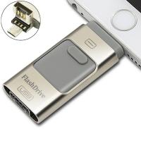 Android Phone USB SwivelFlash Drive Small Grey Multi - Function