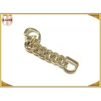 Wholesale Zinc Alloy Custom Bag Hardware Gold Metal D Ring With Chain Die Casting Plating from china suppliers