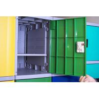 Wholesale Employee ABS Plastic Lockers Green 8 Comparts 1 Column Coin Operated Lockers from china suppliers