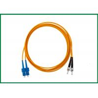 Wholesale PVC 2 Fiber Optic Patch cord , SM Optical Cable SC to ST Duplex with Duplex Clip from china suppliers