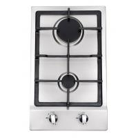 Wholesale Built In Stainless Steel 2 Burner Gas Hob , 2 Burner Gas Range With Thermocouple from china suppliers