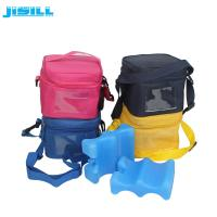 Wholesale 4 Bottle Carry Insulated Wine Beer Bottle Cooler Bag with wavy shape ice pack from china suppliers