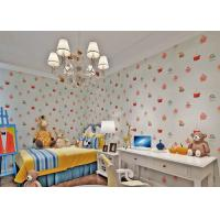 Wholesale White Embossed Nonwoven Fireproof  Kids Bedroom Wallpaper Cake Pattern from china suppliers