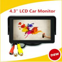 Wholesale Car TFT LCD Monitor 480 x 234 4.3inch Digital Panel 2-Channel Video from china suppliers