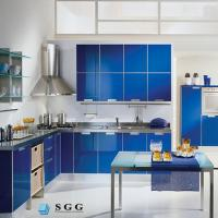 Buy cheap Excellence quality blue tempered painted glass from wholesalers