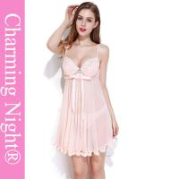 Quality Nylon / Polyester Girls Babydoll For Honeymoon Mature Women Sexy Nightwear for sale