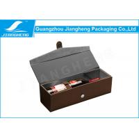 Quality Custom Printed Cardboard Wine Packing Boxes / Packaging Box With Handle for sale