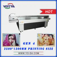 Wholesale Yotta 2500*1300mm bed size UV digital inkjet flatbed 3D glass printer price from china suppliers