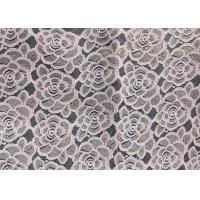 Wholesale Water soluable golden Embroidered Rose guipure Lace Fabric Textile Design 90% Nylon 10% Lycra Spandex Knitting from china suppliers