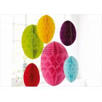 """Wholesale Hanging Yellow Paper Honeycomb Easter Egg 10 12"""" 14 Easter Lovely Egg Decoration from china suppliers"""