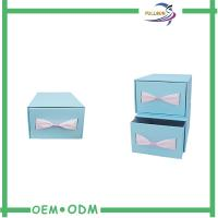 Wholesale Custom Sliding Paper Gift Boxes Blue / Brown Cardboard Paper Drawer Box from china suppliers