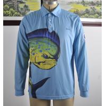China Custom Dlong Sleeve Fishing T Shirts , UV Protection Fishing ShirtsFull Sizes for sale