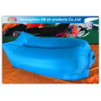 Wholesale Blue Traveling Sleeping Bag Inflatable , Portable Lazy Bag For Indoor / Outdoor Use from china suppliers