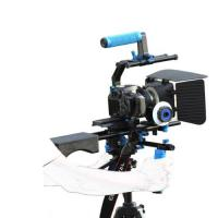 Wholesale Dslr rig movie kit with shoulder mount+Hand Grip+Follow Focus+Matte BoxFor Camcorder from china suppliers
