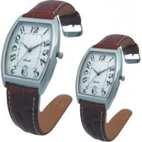 Wholesale Valentine's Day Supply Couple Leather Band Quartz Watch Stainless SteeL Backcase from china suppliers