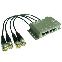 Buy cheap 4CH CCTV Cat5 Power Video Data Combiner HD Balun (PVD304H) from wholesalers