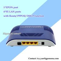 Wholesale newest 4 FE EPON ONU 4 LAN ports EPON ONU with route,DHCP,PPPOE function from china suppliers