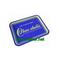 Wholesale rectangular metal tin serving tray from china suppliers