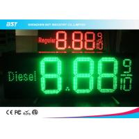 Wholesale Low Voltage 12v Digital Gas Station Led Price Sign Display , Red / Green from china suppliers