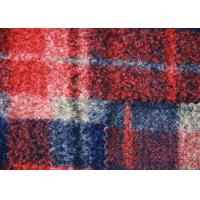 Wholesale Water Proof Irish Red Plaid Wool Fabric , Windowpane Check Fabric Eco - Friendly from china suppliers